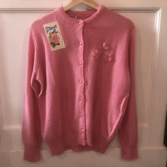 Vintage Dead-stock Pink Cardigan
