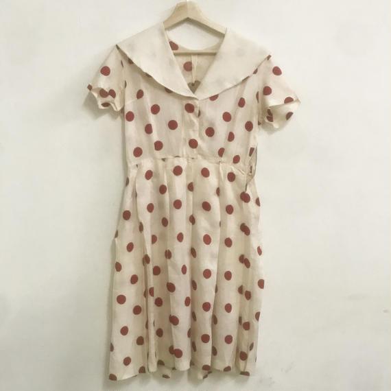 1950s dot dress