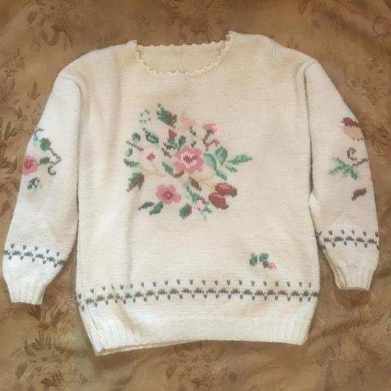 1970s Floral Knit