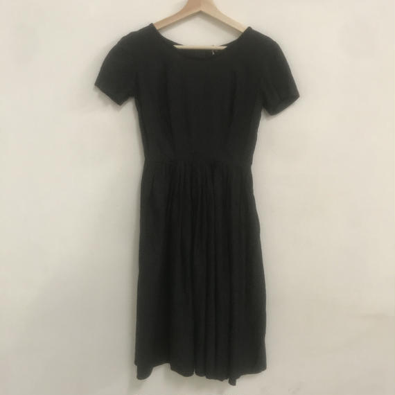 50s pindot dress
