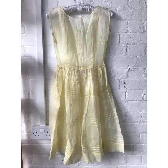 1920-30's Yellow Organdy Dress