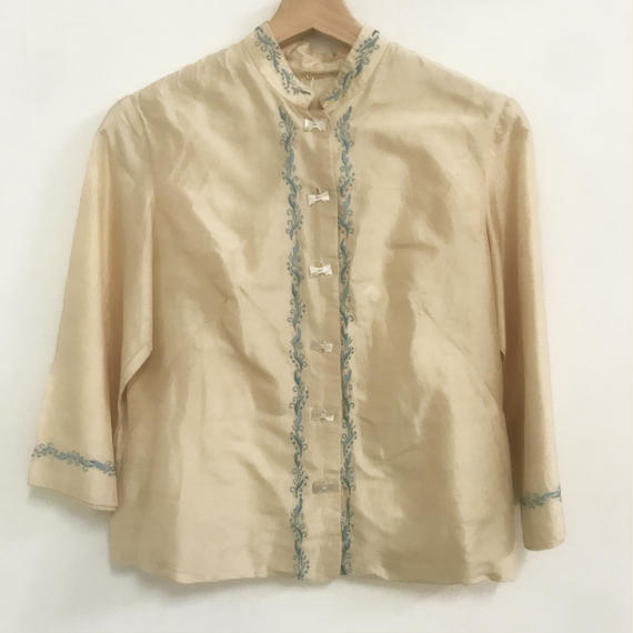 1930-40s Chinese style embroidered silk jacket
