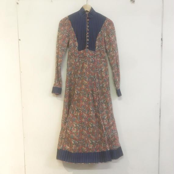 F-troupe Vintage - 1970s  ANNA BELINDA floral quilted jacket dress