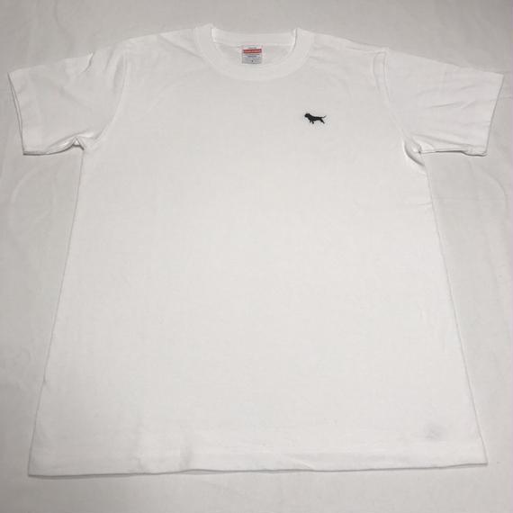 アメリカン・ブリー シルエットロゴ刺繍 Tシャツ