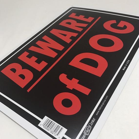 BEWARE OF DOG サインプレート