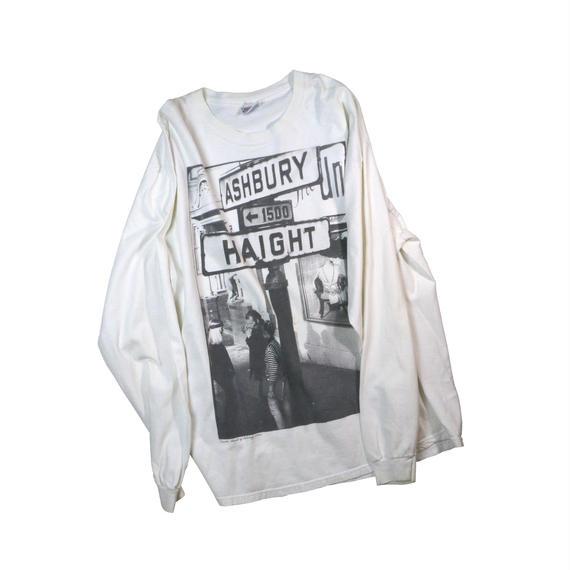 "USED ""HAIGHT & ASHBURY"" L/S T-shirt"