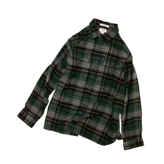 "L.L.BEAN ""CHAMOIS CLOTH"" PLAID L/S SHIRT"