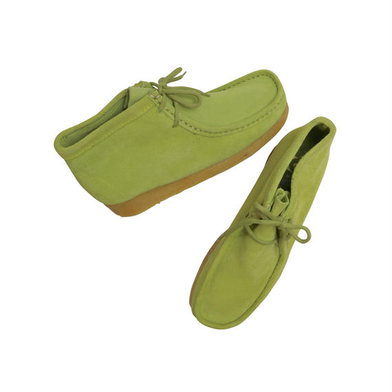 """GBX """"WALLABEE BOOTS"""" LIME GREEN SUEDE DEADSTOCK"""