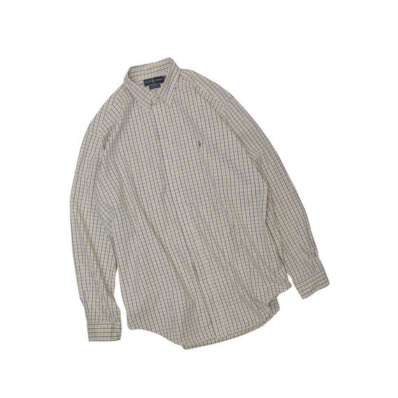 POLO RALPH LAUREN USED CHECK L/S SHIRTS