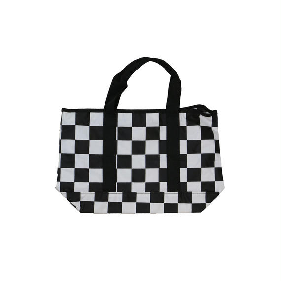 UNKNOWN NYLON CHECKER TOTE BAG