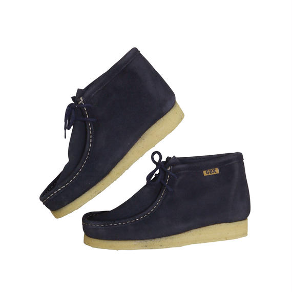 "GBX ""WALLABEE BOOTS"" NAVY SUEDE DEAD STOCK"