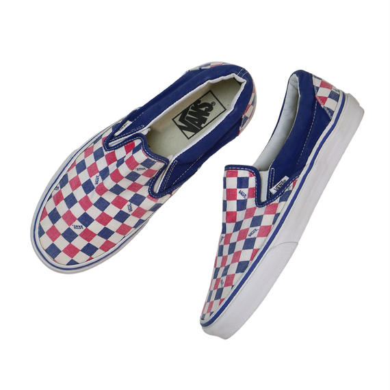 VANS SLIP-ON / NAVY & RED CHECKER