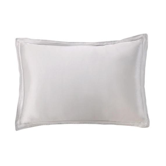 シルク枕カバー シルバーグレー