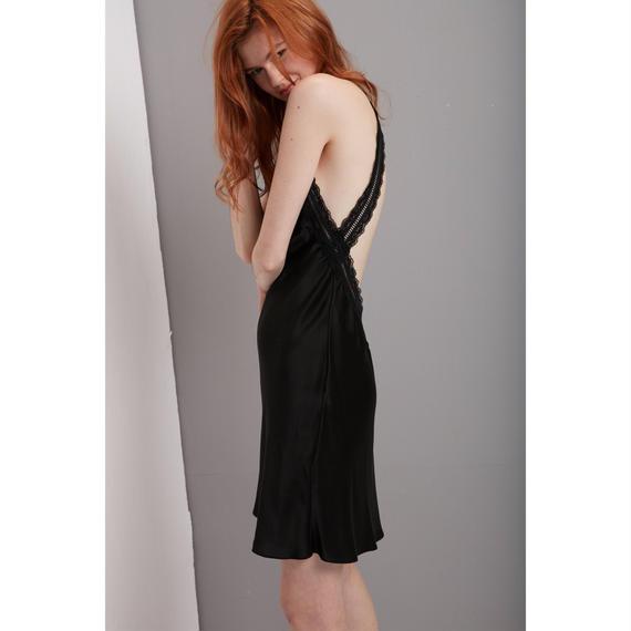 シルクスリップドレス ブラック