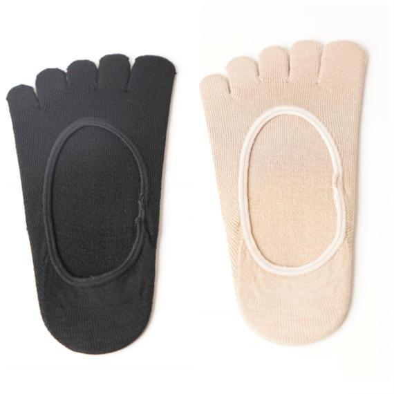 天然シルク 靴下 冷え取り 5本指 2足組セット