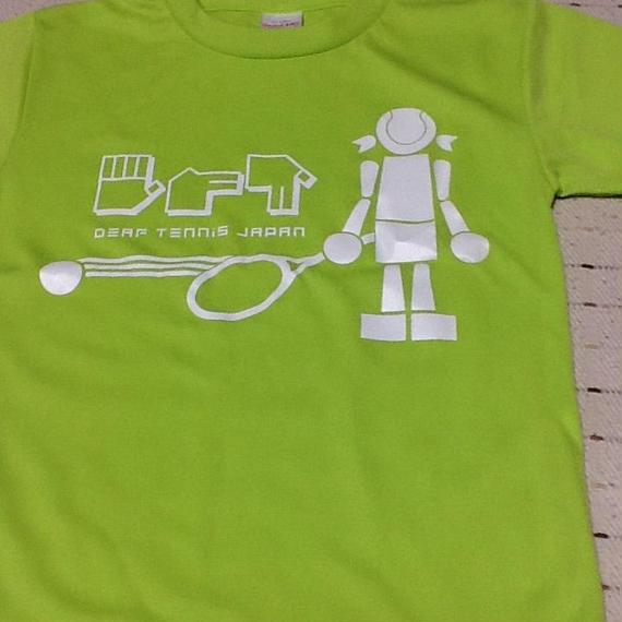 ☆NEW!!☆ドライフィットTシャツ 「ボールガール」黄緑×白