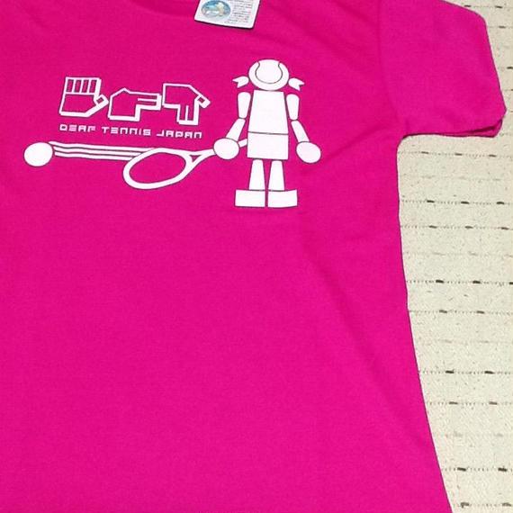 ☆NEW!!☆ドライフィットTシャツ 「ボールガール」ピンク×白