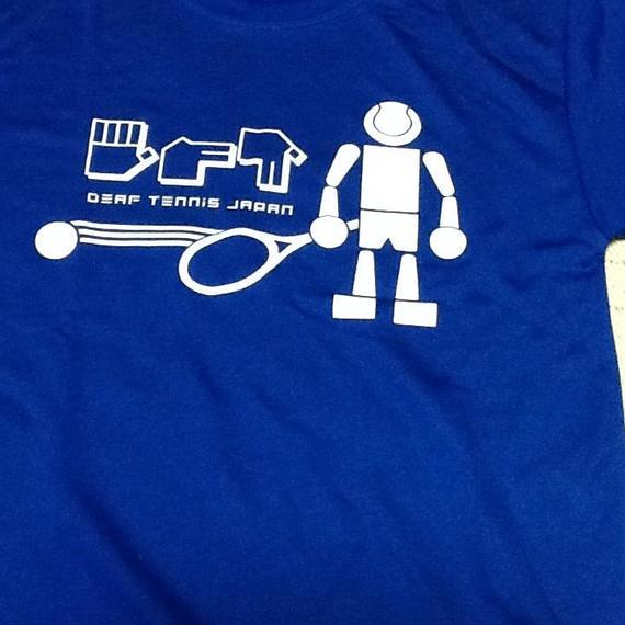 ドライフィットTシャツ 「ボールボーイ」青×白