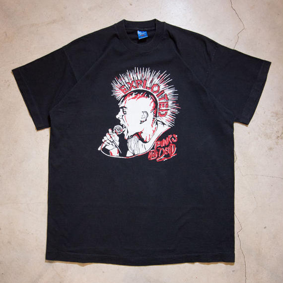 "80's EXPOITED ""PUNKS NOT DEAD"" S/S T-shirts ミントコンディション XL"