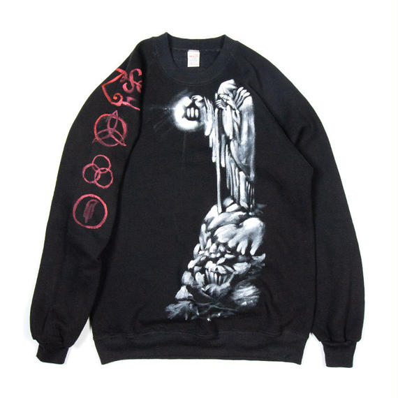 """90's LED ZEPPELIN """"Stairway to Heaven"""" Hand Painted Crewneck"""
