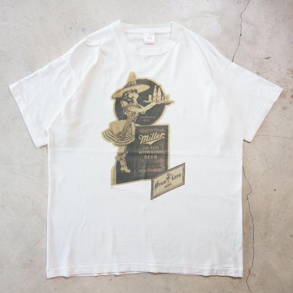 90's MIller Beer S/S T-shirts ミラービール XL