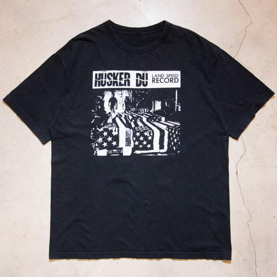 "HÜSKER DÜ ""LAND SPEED RECORDS"" S/S T-shirts ハスカー・ドゥ ハードコア パンク"