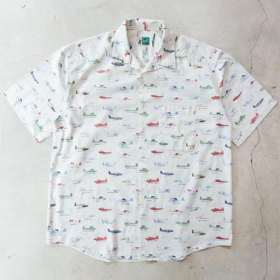US製 Johnny Cotton Light Aircraft S/S Shirts アメリカ製 軽飛行機