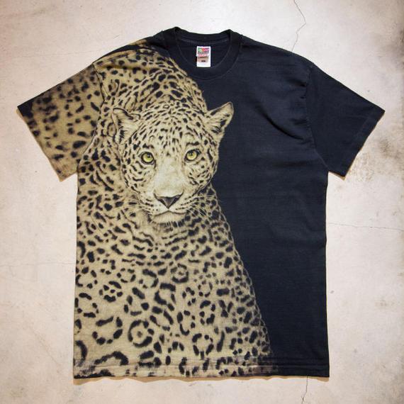 90's Leopard S/S T-shirts ヒップホップ 豹 XL