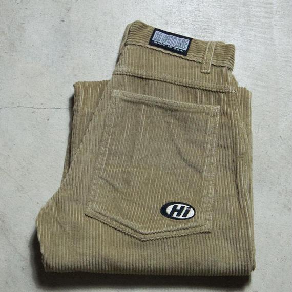 NOS 90's HI CUTLINE Fat Corduroy Baggy Pants スケートボード