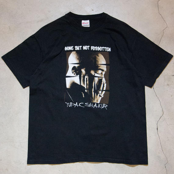"90's Tupac Shakur ""GONE BUT NOT FORGOTTEN"" S/S T-shirts ヒップホップ"