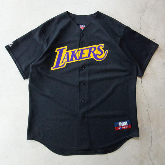 NOS Los Angeles Lakers Base Ball Shirts ロサンゼルス レイカーズ XL 極上
