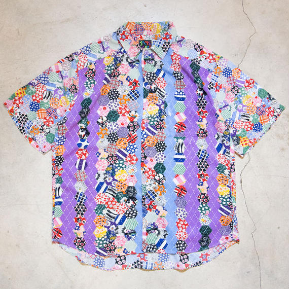 〜90's JAMS WORLD S/S Aloha Shirts 和柄文様 パッチワーク