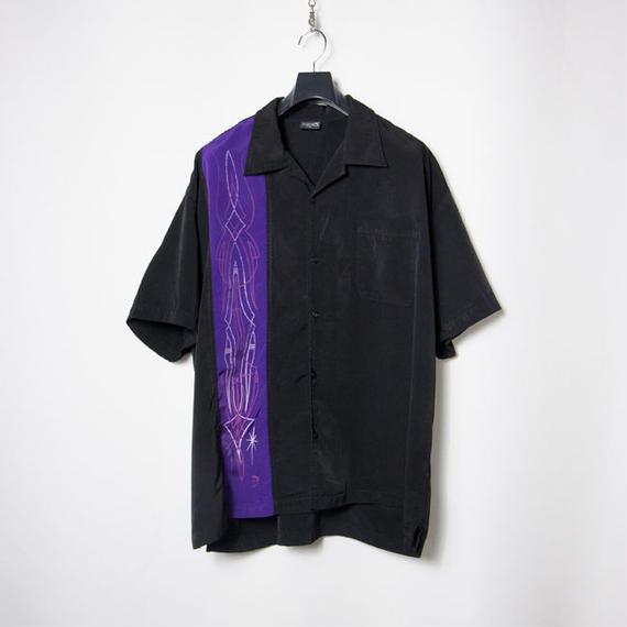 Steady Clothing Pin-stripe S/S Shirts ピンストライプ ホットロッド ローブローアート