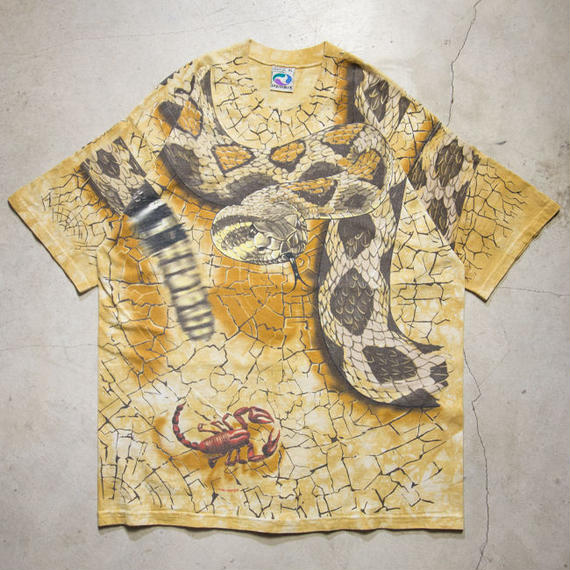 "'96 Liquid Blue ""Snake, Scorpion & Spider"" Tye-Dye S/S T-shirts リキッドブルー XL"