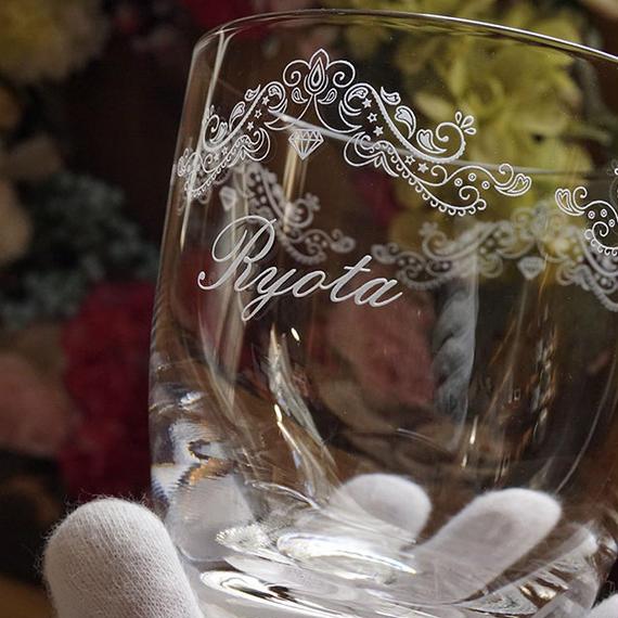 レトロなグラス 名入れ