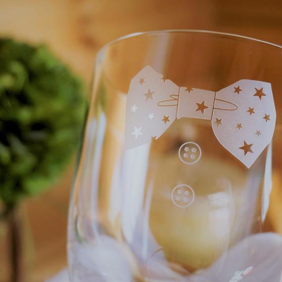 星の蝶ネクタイグラス