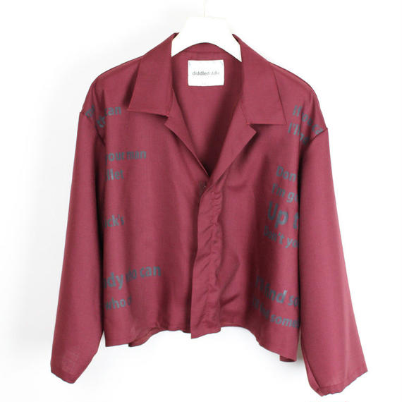 THEE BLOUSON / 35 DEEP RED