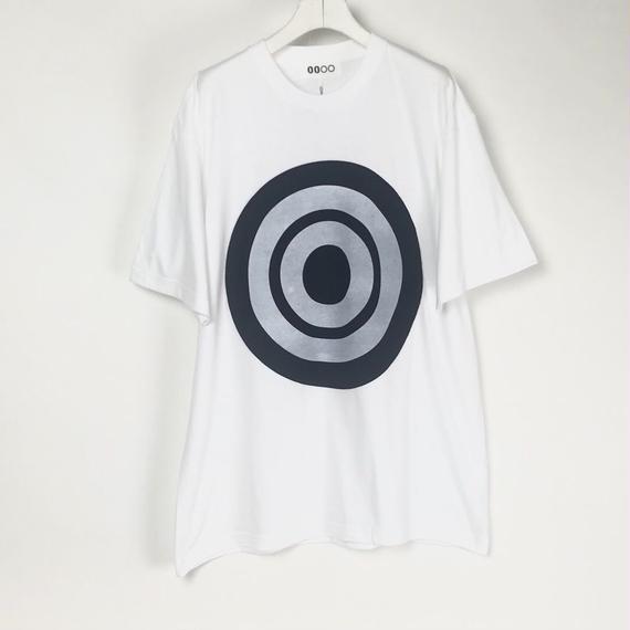 00〇〇 ホワイトリボンTシャツ /  BLACK-WHITE