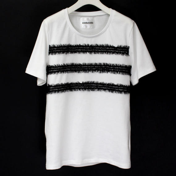 BORDER LACE T-SHIRTS / 99 BLACK