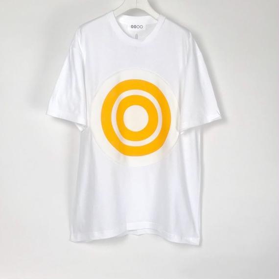 00〇〇 ホワイトリボンTシャツ /  WHITE-YELLOW