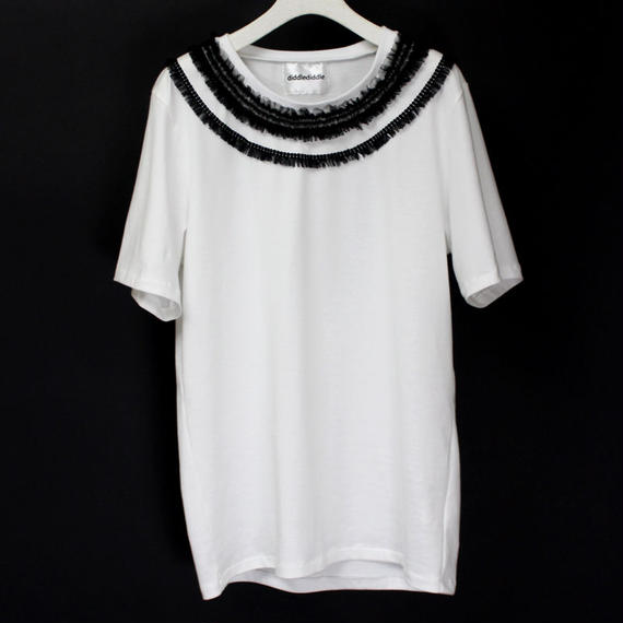 NECK LACE T-SHIRTS / 99 BLACK