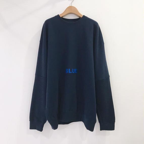00〇〇 切替えスウェット  / 1810-53  BLUE
