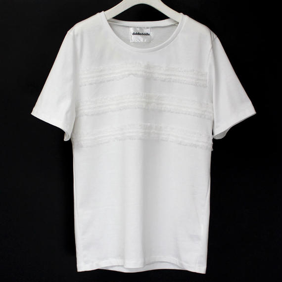BORDER LACE T-SHIRTS / 11 WHITE