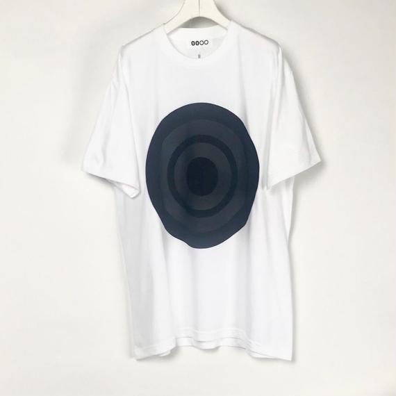 00〇〇 ホワイトリボンTシャツ /  BLACK-BLACK