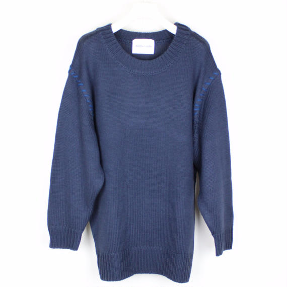 SOFT KNIT PLUS / NAVY (BLUE STITCH)