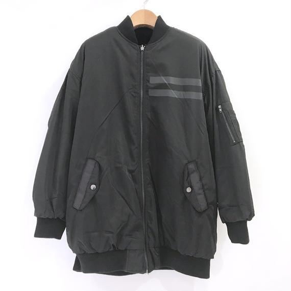 00○○ リバーシブルMA-1ブルゾン / 1810-001 BLACK