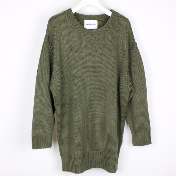 SOFT KNIT PLUS / KAHKI (BLACK STITCH)