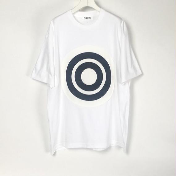 00〇〇 ホワイトリボンTシャツ /  WHITE-BLACK