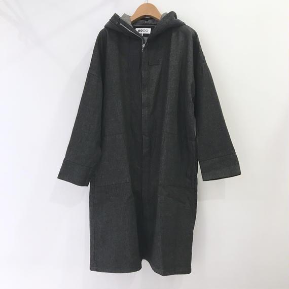00○○ デニムパーカーコート / 1810-1026 BLACK