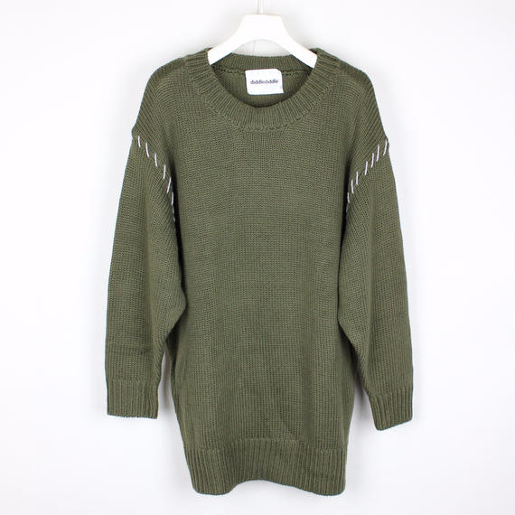 SOFT KNIT PLUS / KAHKI (GRAY STITCH)